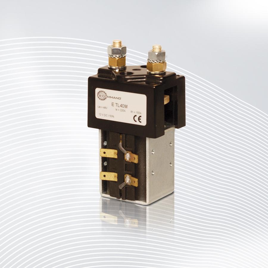 Gleichstromschütz für 100A Nennstrom bei 50% Intervallbetrieb ✓ 400A Schaltvermögen für 15ms ✓ 12V, 24V, 36V & 48V ✓ inkl. 6mm Doppel-Flachsteckanschlüssen
