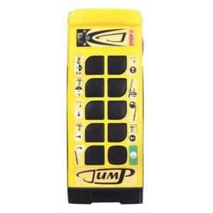 Handsender Jump für 6, 9 oder 13 Tasten + Start-Stop bzw. Not-Aus ✓ Optional: Data-Feedback, Take-Release, Master-Slave ✓ 33 Kanäle ✓ 65ms Ansprechzeit