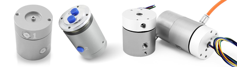 Schleifring-Drehdurchfuehrung-Miniatur-Hybrid-Mediendurchfuehrung-Gas-Fluessigkeit-Hydraulik-B-COMMAND