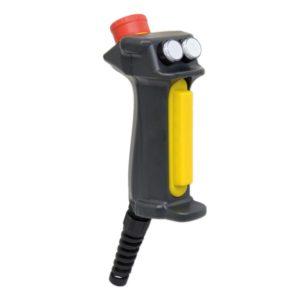 Aus-Ein-Aus Zustimmtaster ZB2 mit Handgriff ergonomisch, langlebig und mit Hilfskontakt (Öffner) ausgestattet, Not-Aus-Taster und Schlüsselschalter - Sicherheitskategorie 4