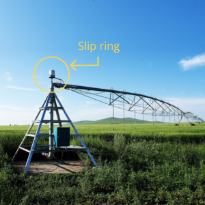 Slip ring irrigation